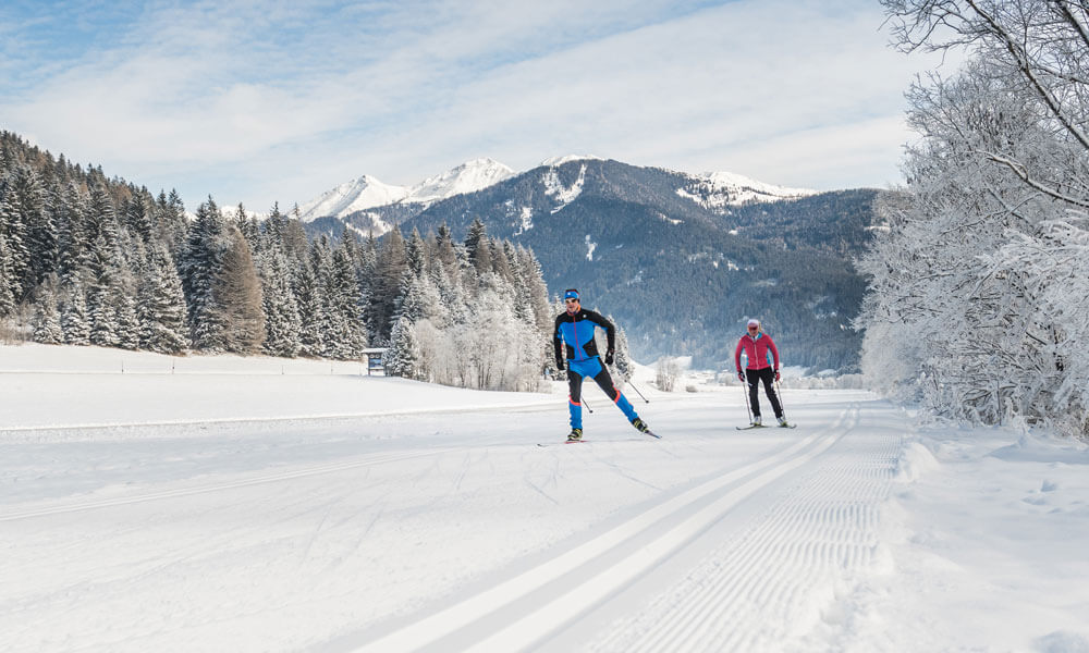 Cross-country skiing in Valle di Casies